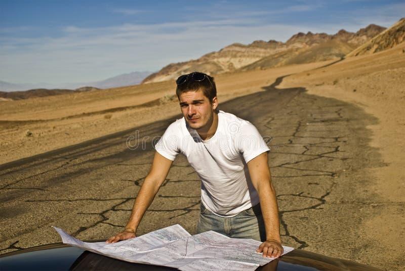 Détruit dans le désert photographie stock