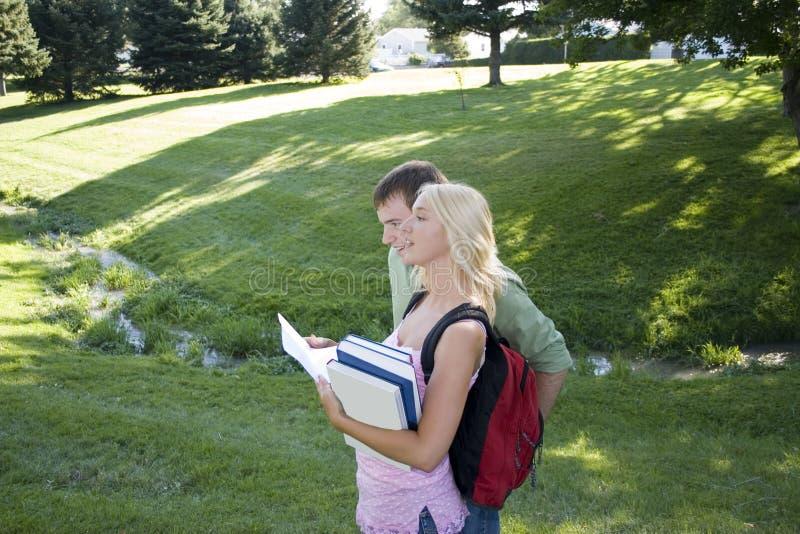Détruit sur le campus image libre de droits