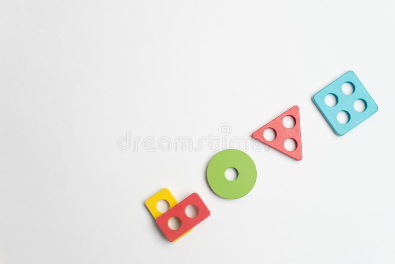 Développement coloré d'enfants avec le cercle, le squara, la triangle et le rectangle image stock