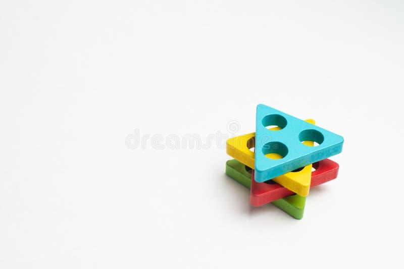 Développement coloré d'enfants avec le cercle, le squara, la triangle et le rectangle photo stock