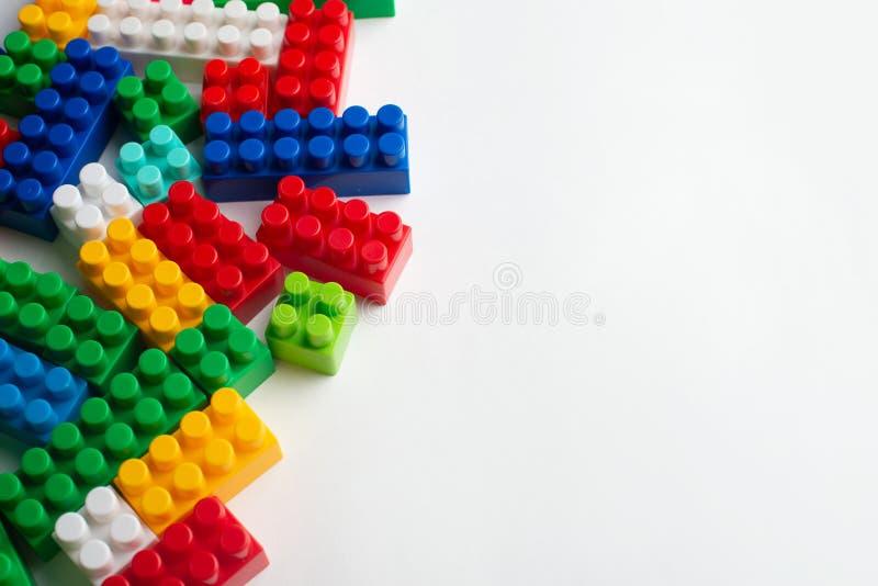 Développement d'enfants, blocs constitutifs et construction images stock