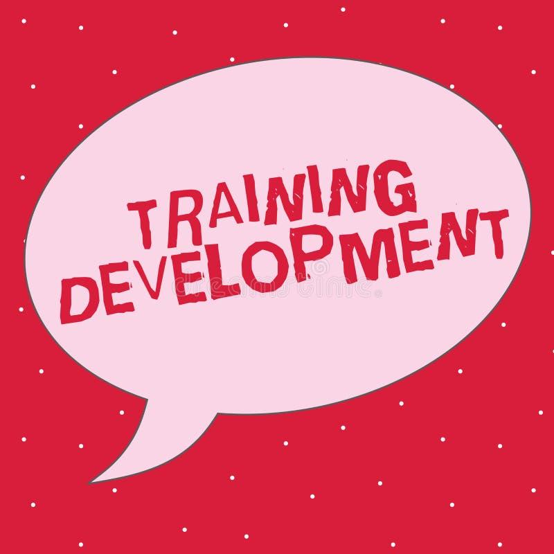 Développement de formation des textes d'écriture de Word Concept d'affaires pour des qualifications Learn et Expand et le program illustration libre de droits