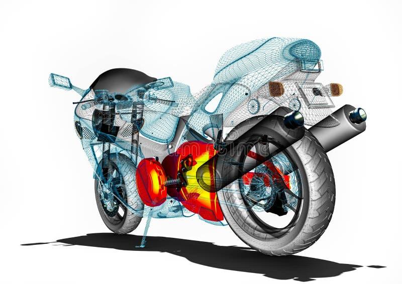 Développement de moto sur des logiciels illustration de vecteur