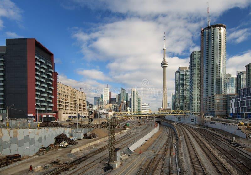 Développement de terrains ferroviaire de Toronto photo libre de droits