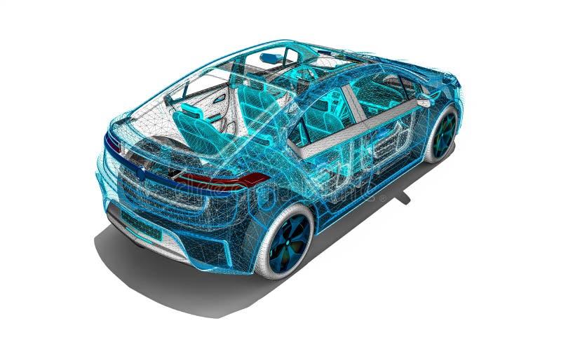 Développement de voiture sur des logiciels illustration libre de droits