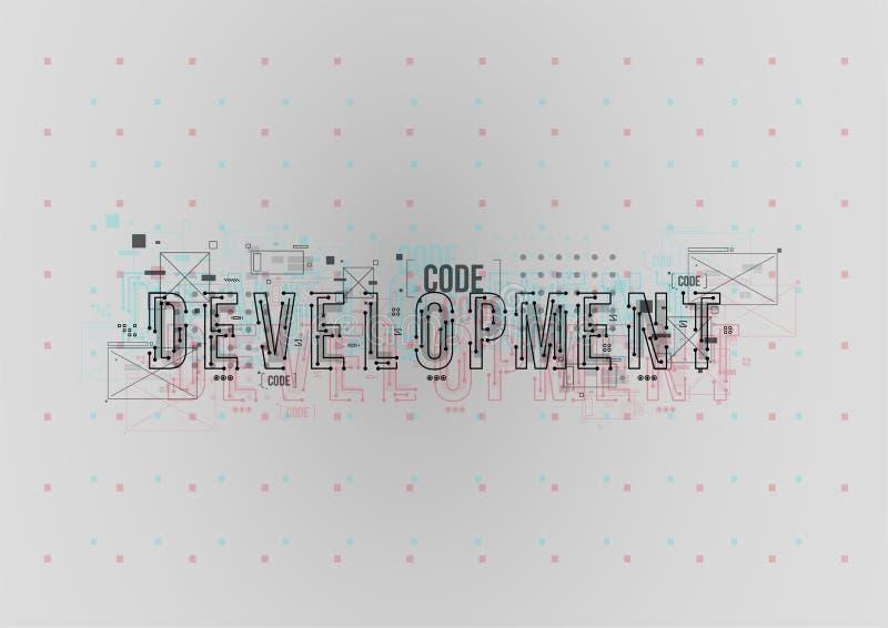 développement Disposition conceptuelle avec des éléments de HUD pour la copie et le Web Lettrage avec les éléments futuristes d'i photographie stock