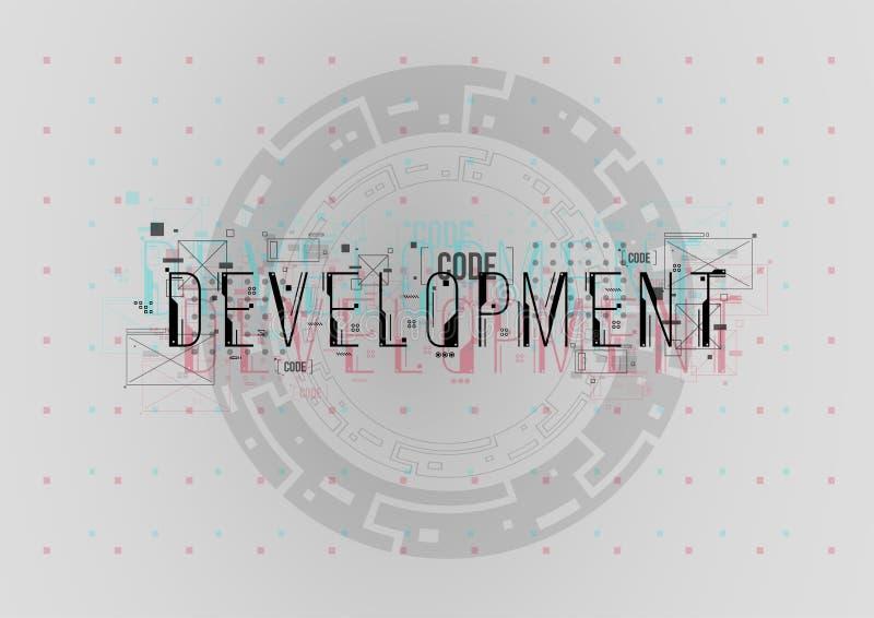 développement Disposition conceptuelle avec des éléments de HUD pour la copie et le Web Lettrage avec les éléments futuristes d'i image libre de droits