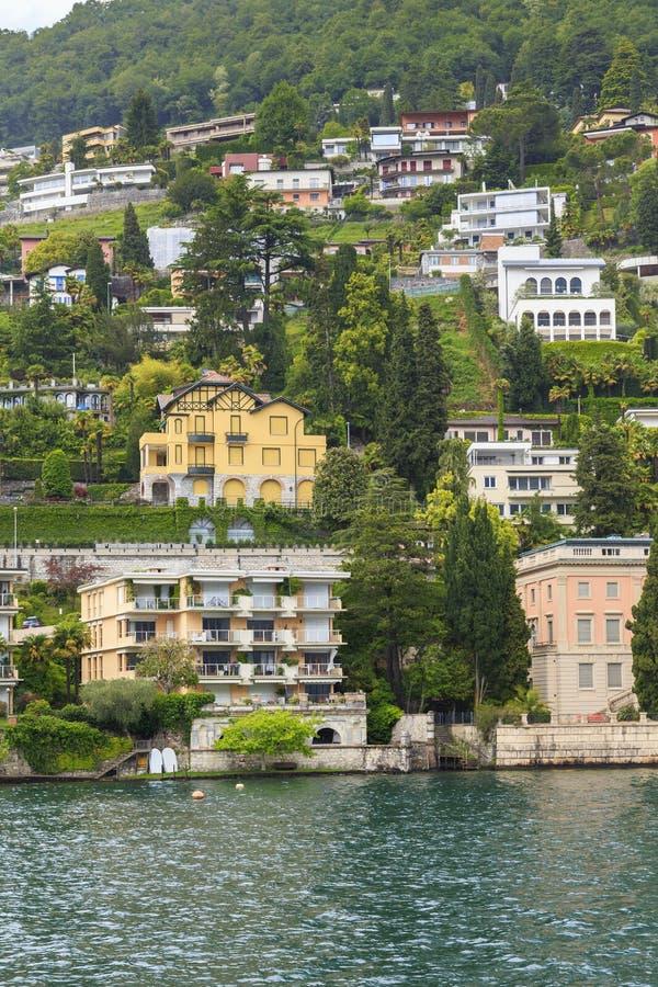 Développement moderne de luxe de Lugano photographie stock