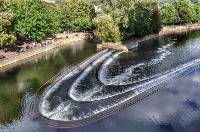 Déversoir de Bath l'angleterre photo stock