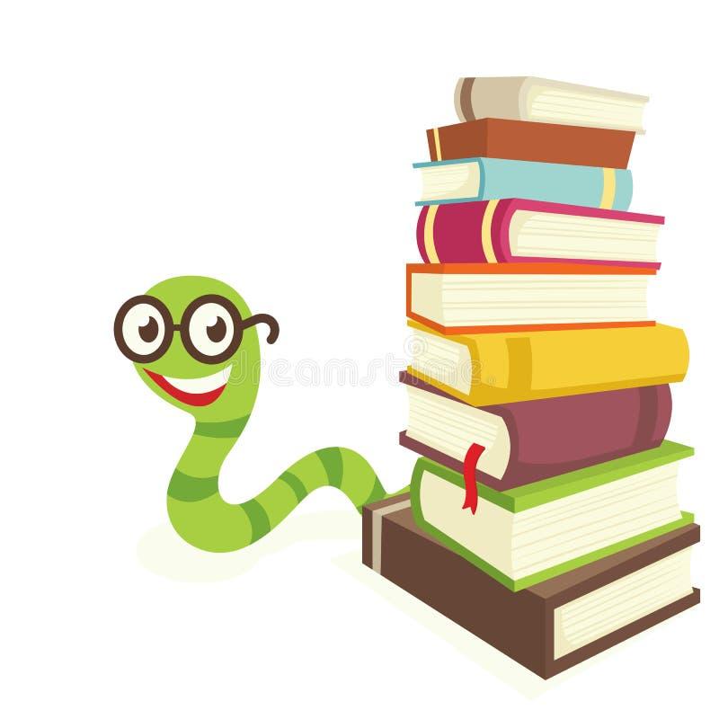 Dévoreur de livres illustration de vecteur