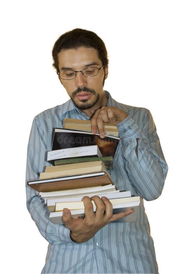 Dévoreur de livres images libres de droits