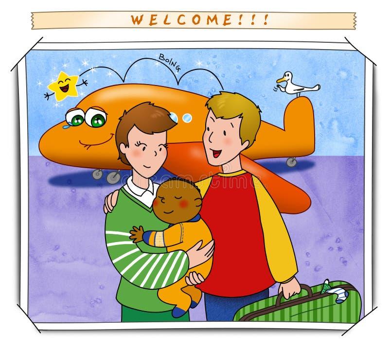 Dê boas-vindas a meu bebê! ilustração do vetor