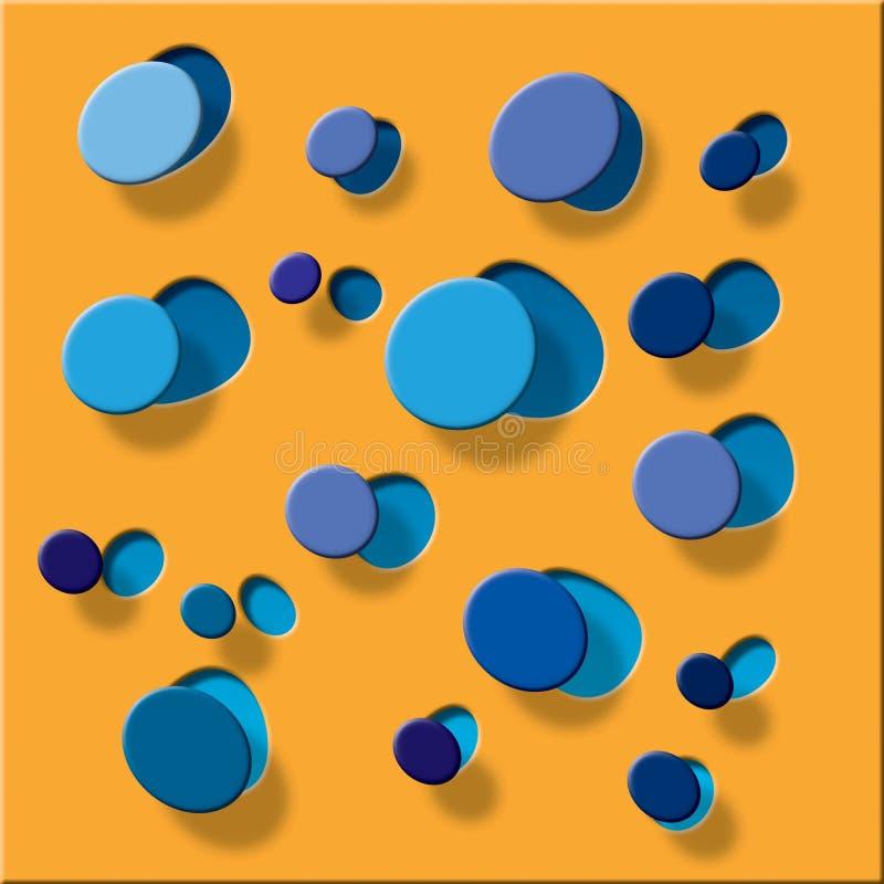 Dê forma à laranja plástica ilustração stock