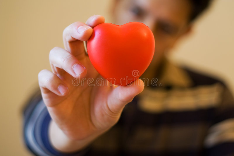 Dê-lhe meu coração imagem de stock