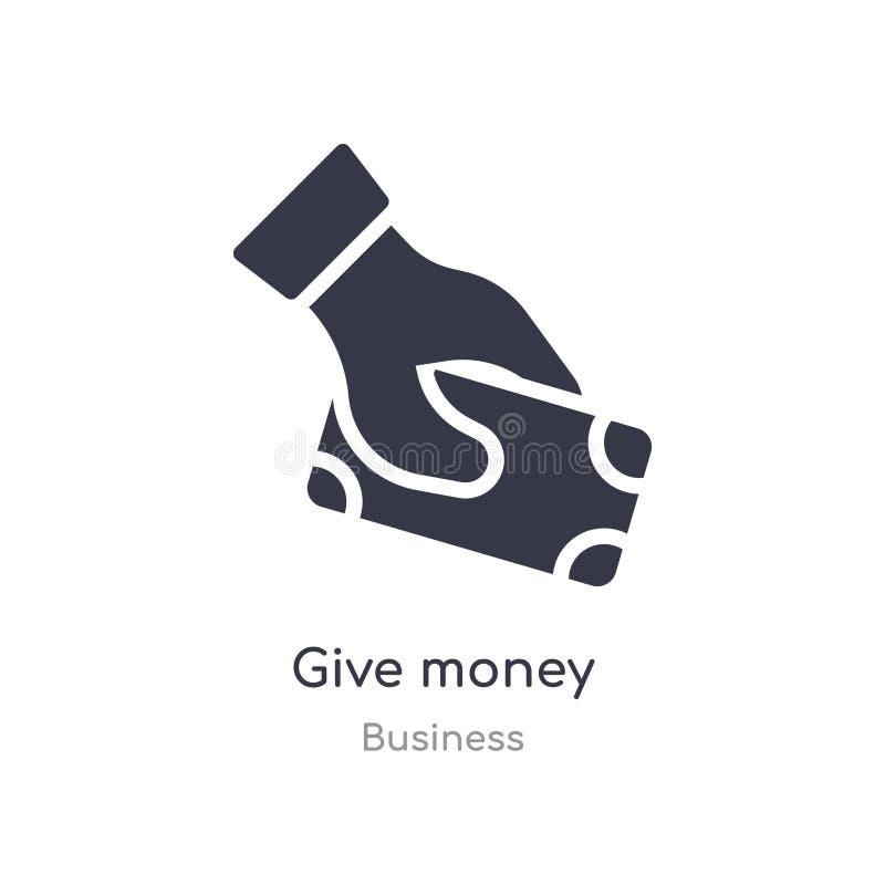 dê o ícone do esboço do dinheiro linha isolada ilustra??o do vetor da cole??o do neg?cio curso fino editável para dar o ícone do  ilustração do vetor