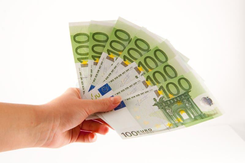 Dê o dinheiro fotografia de stock royalty free
