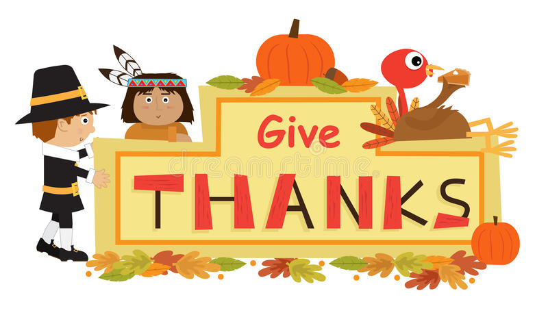 Dê o sinal dos agradecimentos ilustração stock