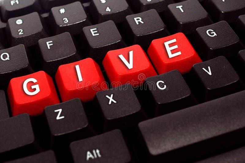 Dê a palavra no teclado preto fotos de stock