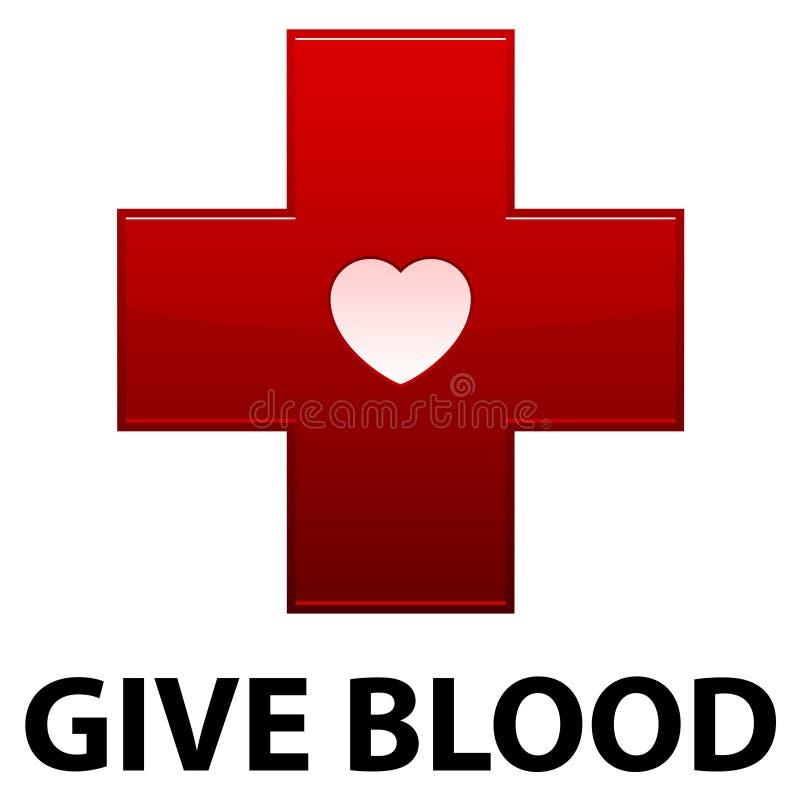 Dê a sangue a cruz vermelha ilustração stock