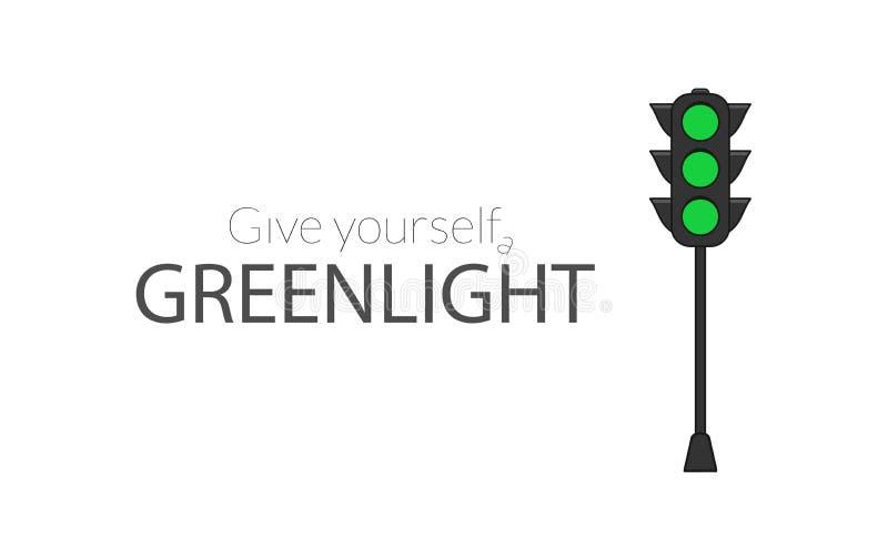 Dê-se um greenlight ilustração stock