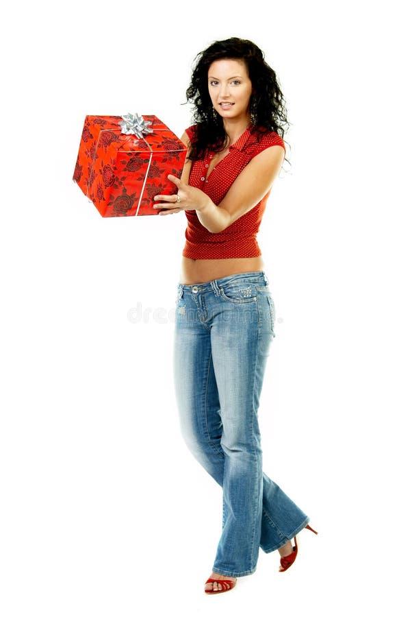 Dê um presente fotografia de stock