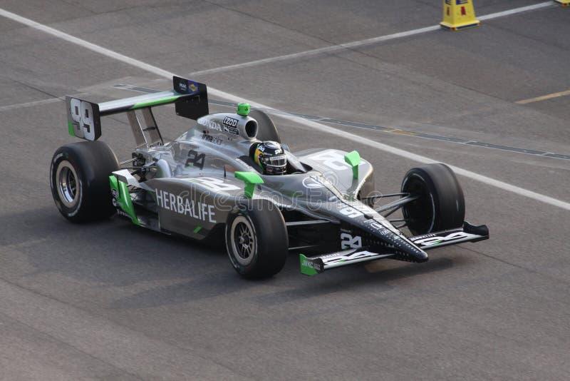 Día 2011 de Townsend Bell 99 Indianapolis 500 poste imagen de archivo