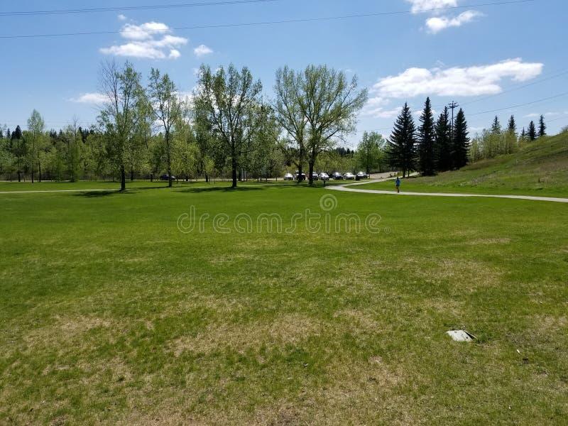 Día agradable del tiempo en Calgary imagenes de archivo