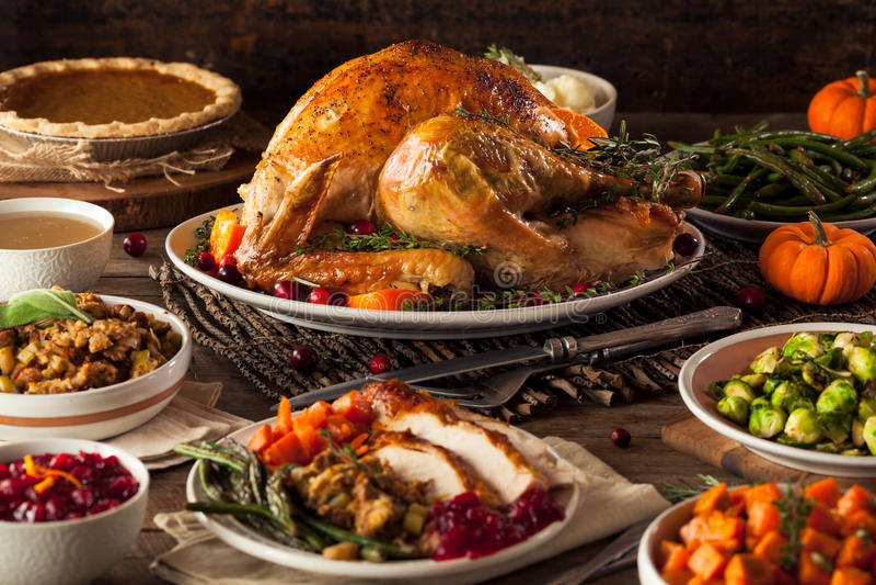Día asado hecho en casa Turquía de la acción de gracias