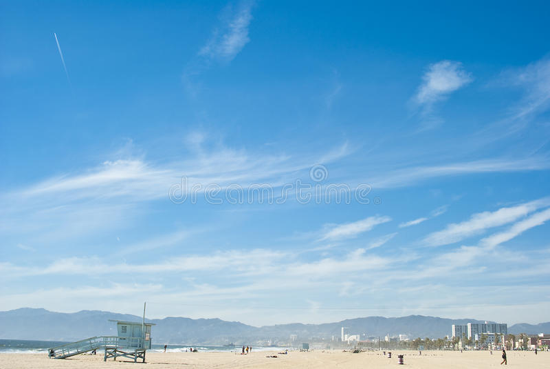Día asoleado en la playa 3 de Venecia de 7 foto de archivo