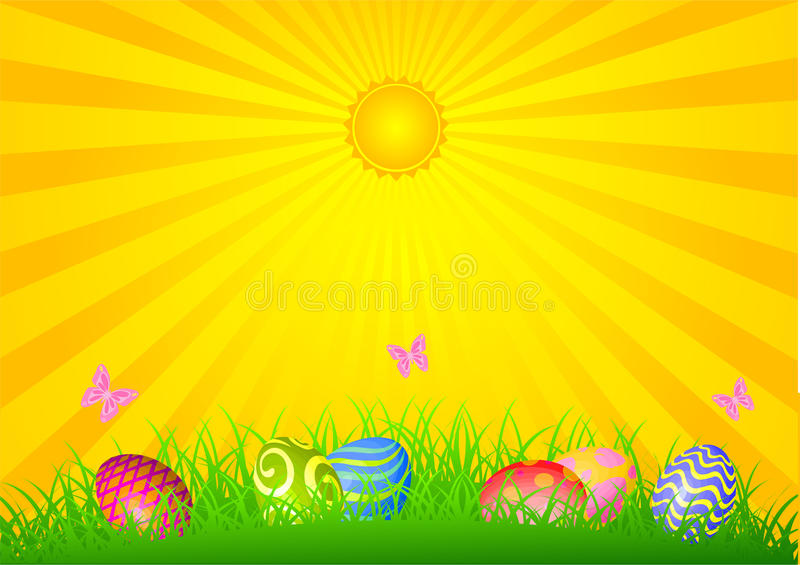 Día brillante de Pascua stock de ilustración