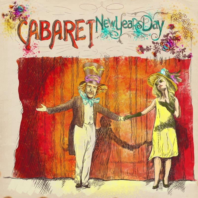 Día de Años Nuevos del cabaret libre illustration
