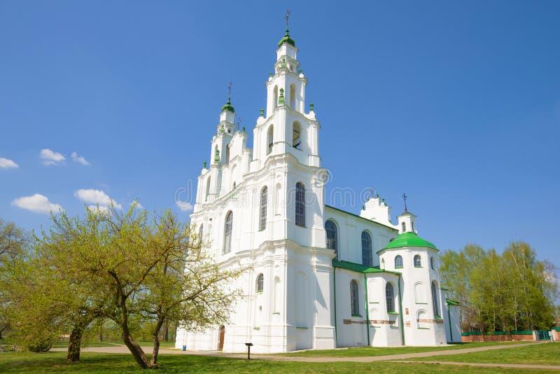 Día de abril en St Sophia Cathedral Polotsk, Bielorrusia fotos de archivo libres de regalías