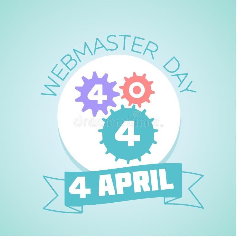 Día de 4 April Webmaster ilustración del vector
