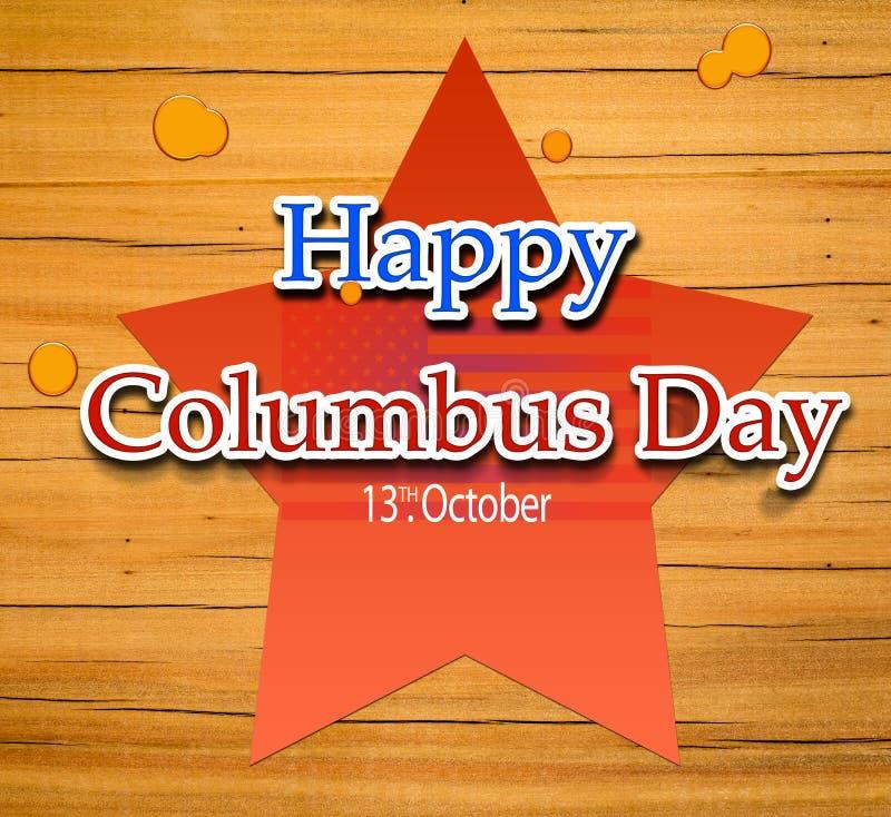 Día de Colón feliz ilustración del vector