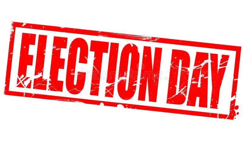 Día de elección en marco rojo libre illustration