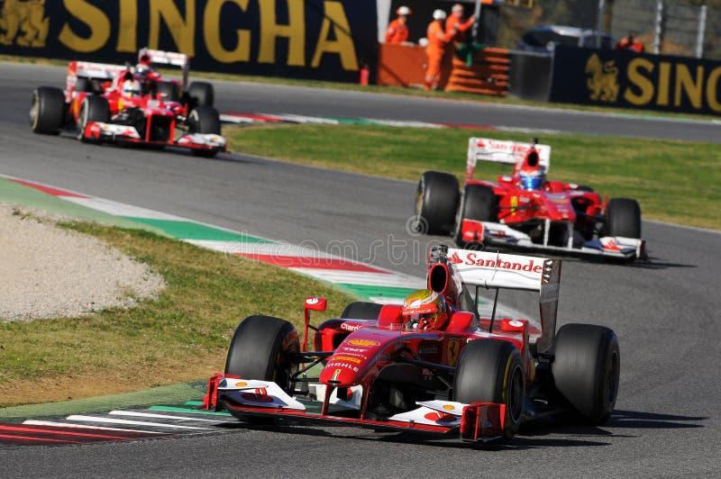 Día de Ferrari Esteban 2015 Gutiérrez en Ferrari F1 fotografía de archivo