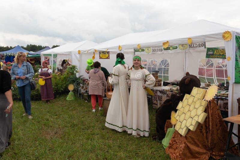 Día de fiesta agrícola en la costa báltica foto de archivo