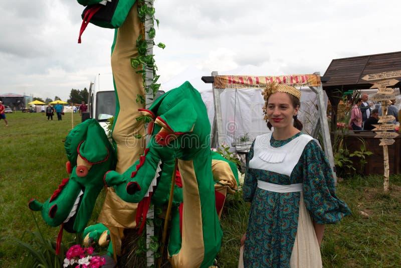 Día de fiesta agrícola en la costa báltica imagen de archivo