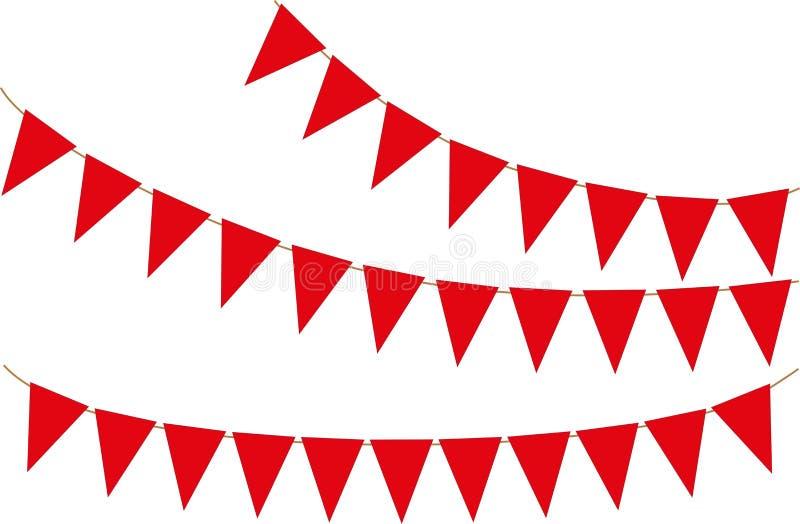 Día de fiesta, bandera del partido Ilustración del vector libre illustration