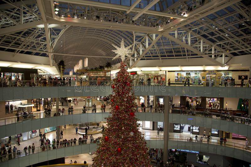 Día de fiesta cantado del Galleria de la alameda de compras imagen de archivo libre de regalías