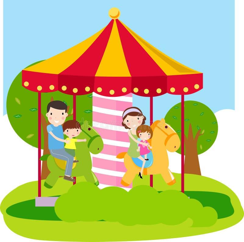 Día de fiesta de Familly stock de ilustración