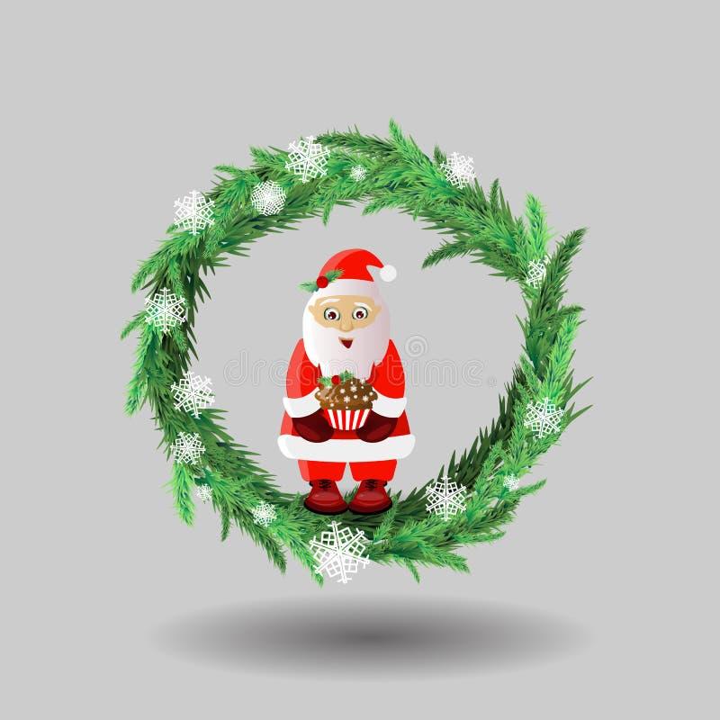 Día de fiesta del Año Nuevo y de la Navidad Papá Noel _2 stock de ilustración