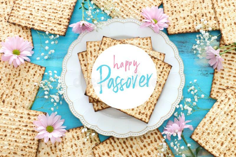 Día de fiesta judío de la pascua judía del concepto de la celebración de Pesah imagenes de archivo