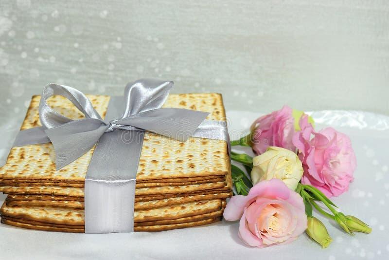 Día de fiesta judío de la pascua judía y del matzo imagen de archivo