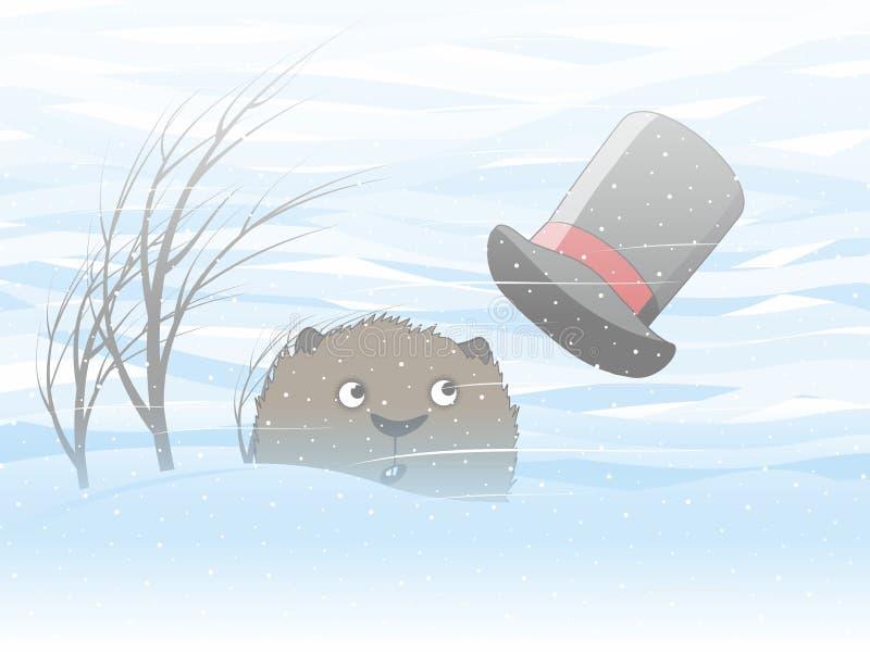 Día de Groundhog stock de ilustración