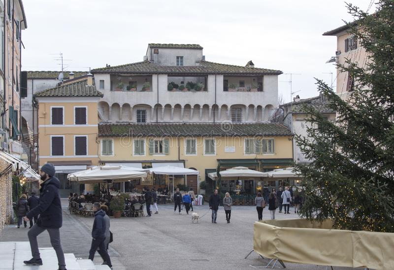 Día de invierno en diciembre en Pietrasanta fotos de archivo libres de regalías