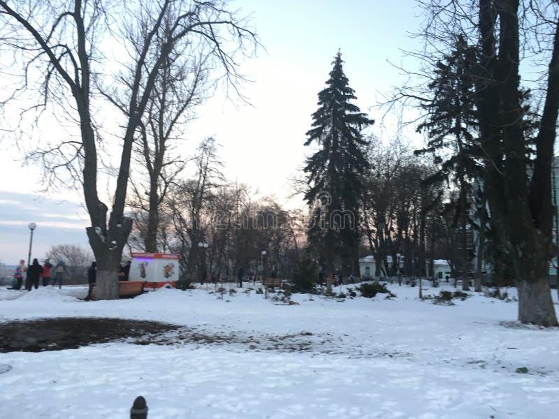 Día de invierno en Kiev imagen de archivo