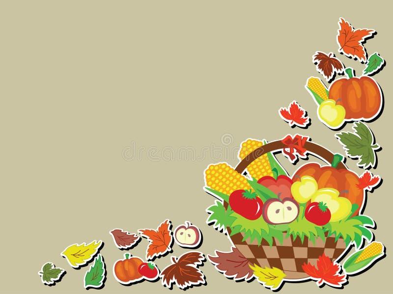 Día de la acción de gracias, fondo. stock de ilustración