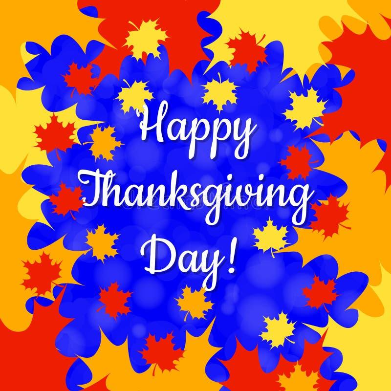 Día de la acción de gracias en Canadá Marco de la hoja de arce, nombre del día de fiesta ilustración del vector