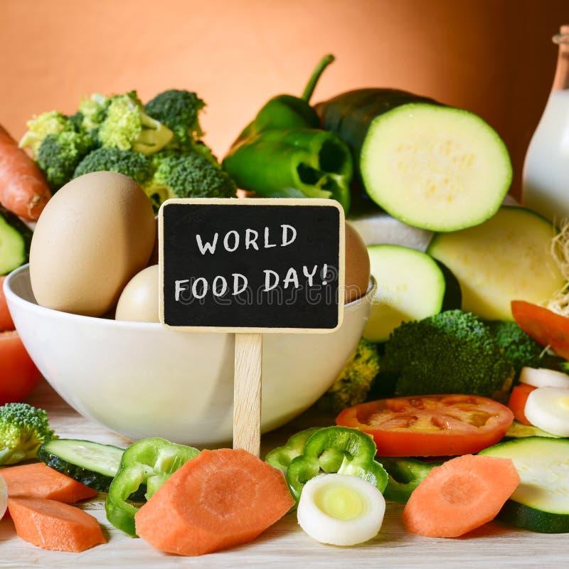 Día de la comida y de la comida del texto fotos de archivo libres de regalías